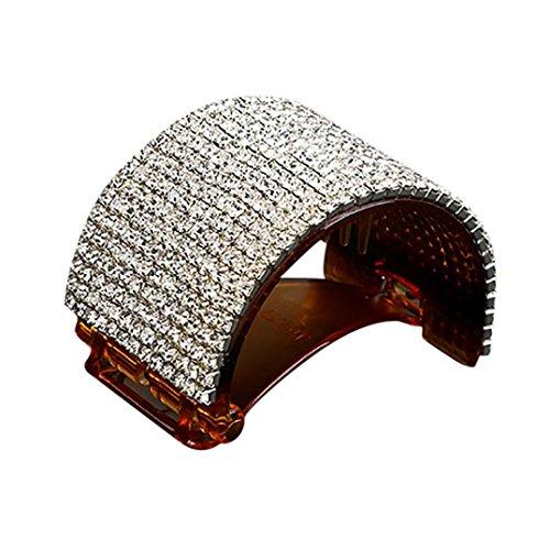 SANFASHION Mode Filles Ronde Cristal Épingle à Cheveux Pince en Dress Griffe Acrylique Jaw Queue de Cheval Clip Grip Clamp Soirée Cocktail Cadeaux