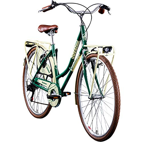"Galano Trekkingrad 700c Damenfahrrad Citybike Damenrad 28\"" Caledonia Fahrrad (grün/braun, 48 cm)"