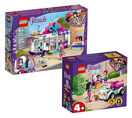 Collectix Lego Set Friends Salón de peluquería de Heartlake City 41391 + Friends móvil Salón para gatos 41439