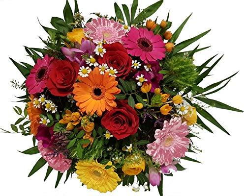 Flora Trans Bunter Blumenstrauß mit frischen Blumen -Liebelei der Blumen-