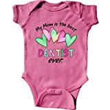 inktastic My Mom is The Best Dentist Ever Infant Creeper 6 Months Raspberry