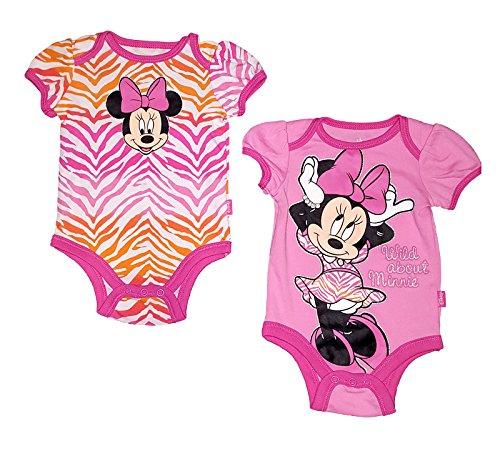 Disney Baby Minnie Mouse Lot de 2 barboteuses Creeper - - 0/3 mois
