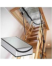 WZNING Cubierta de Aislamiento de escaleras del ático, protección contra la Tienda de la Tienda del ático Mantenga la lámina de Aluminio Caliente espesante fácil de Instalar Durable y Protector