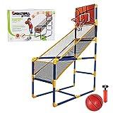 Rainao Aro de Baloncesto para niños, Juego de Baloncesto portátil Ajustable, Juego de Bastidor de Baloncesto Arcade con Pelota y Bomba para Interior y Exterior