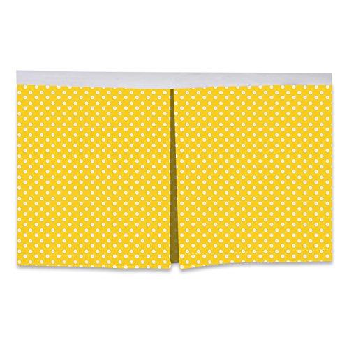 Bacati - Mix N Match Pin Dots Crib/Toddler Bed Skirt (Yellow)