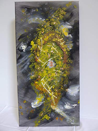 PicoDoro – Acryl – Gemälde/Collage – Goldinsel im Sturm