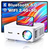 BOMAKER 2.4G+5G WiFi Bluetooth Proyector Full HD 1080P Nativo con 8000 Lumenes, Soporta 4K, 4P Correción, 60% Zoomout, para PPT/PS5/Switch/TV Stick/PC/Smartphone