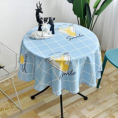 LWSJP Table Cover Nordic Mail order Style Waterproo Super special price Round Simple Tablecloth