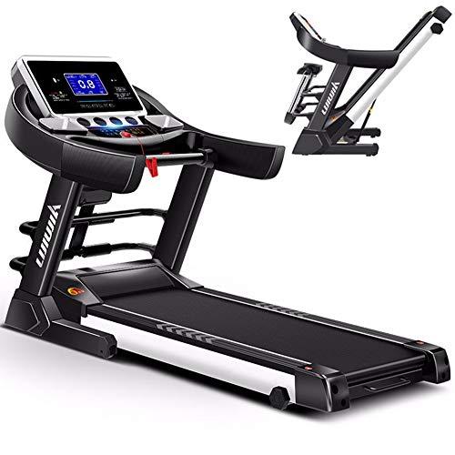 XCBY Laufband Klappbar, Profi Laufband - 4 Ps, 0.8-14 Km/H, 6 Stufen Der Neigungsverstellung, EinschlüSsel-Klappsystem FüR Ihr Cardio-Training Zuhause