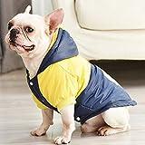 ZHXY Mascota Perro Abrigo,Perro Abrigo de Invierno Perro Chaqueta Perro Sudadera con Capucha Capa Ropa,para Perros pequeños y medianos,Grueso y cálido,Azul.