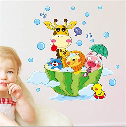 Animales baño ducha pegatinas de pared burbujas de baño pegatinas para niños Habitación para niños Decoración del hogar Decoración del arte Decoración