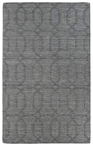 Kaleen Rugs Imprints Modern Hand-Tufted Area Rug, Grey, 5' x 8'