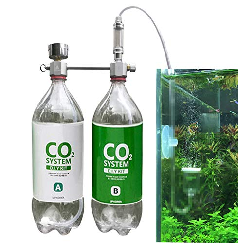 Wyin CO2 Generator for Plants Aquarium DIY CO2 Kit Pressurized Injection System with Bubble Counter Full Metal