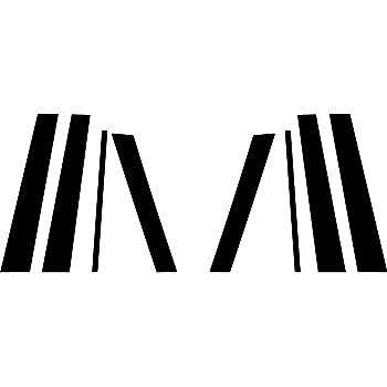 Rvinyl Rtrim Pillar Post Decal Trim for Lincoln MKT 2010-2015 Aluminum Brushed Black