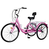 Best Adult Tricycles - ABORON Adults Tricycle 24/26 inch 7 Speed Cruiser Review