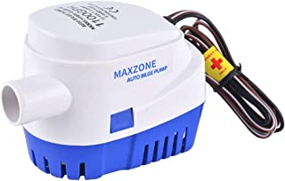 MAXZONE Automatic Submersible Boat Bilge Water Pump 12v 1100gph Auto with Float Switch..