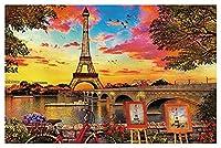 ジグソーパズル1000ピース木製パズル、エッフェル塔、フランス、ティーンエイジャーと大人、非常に良い教育ゲーム、飛行機のパズル、木製のパズル、誕生日プレゼント&ホリデーギフト - B