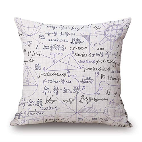 N\a 45 * 45cm Students Personality Mathematical Formula Decorative Pillow Case To Help Students Learn Math Well Pillow Covers