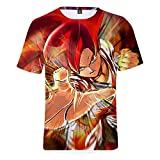 YJXDBABY-Dragon Ball-Unisex 3D Printed Short Sleeve T-Shirt,Summer Men's T-Shirts Casual Graphic,Relaxed Easy Round Neck T-Shirt Top,Child Breathable Tees Top-M