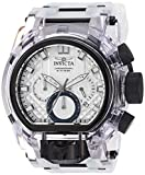 Invicta Men's Bolt Stainless Steel Quartz Watch with Silicone Strap, Transparent, 34 (Model: 29995)