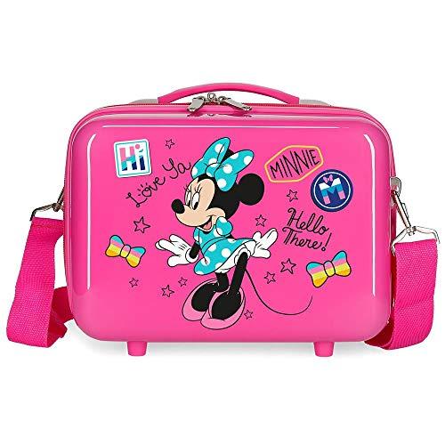 Disney Enjoy Minnie Icon Nececer Adaptable Rosa 29x21x15 cms ABS