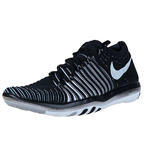 Nike Damen Wm Free Transform Flyknit Gymnastikschuhe, Schwarz/Weiß/Grau/Dunkelgrau (Black White Wolf Grey Drk Grey), 37.5 EU