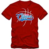 True Clipper #3 Camiseta | Hombre | Basketball | Play Offs | Champion | Basketball Shirts | American Sports | USA | T-Shirt, Colour:Red;Size:Large