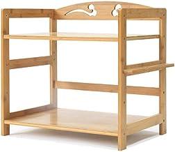 Multifunctional Kitchen Storage Rack Storage Shelf Kitchen Shelves Pot Rack Microwave Shelf Oven Utensils Frame 2-Tier Lay...