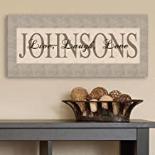 Personalized Live, Laugh, Love Canvas Print - Family Canvas - Custom Canvas Sign - 8