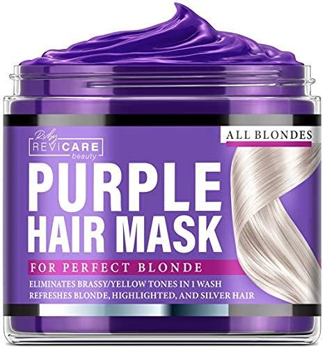 Purple Hair Mask - Made in USA Hair Toner w/Retinol, Avocado Oil &...