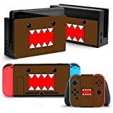Etiqueta de la Etiqueta de la Piel de la Placa Frontal Stickers para Nintendo Switch 2Pcs Protector de la Pantalla (switch brown monster)