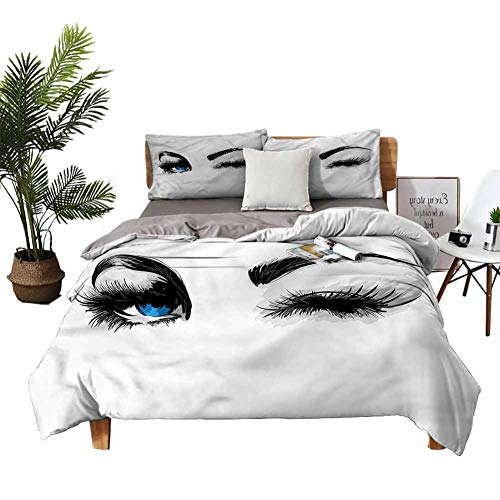 DRAGON VINES sheet set Flirty Young Woman Wink Crib Sheets Breathable fabric W85 xL85