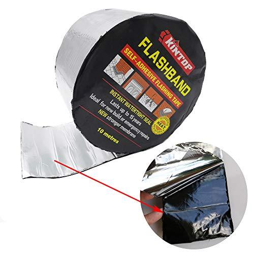 BXI Flashing Roll Tape Membran - Wasserdichtes Patch & Seal Tape - Modified Bitumen gummiert Asphalt - selbstklebend - verschiedene Größen 4'' X 32'