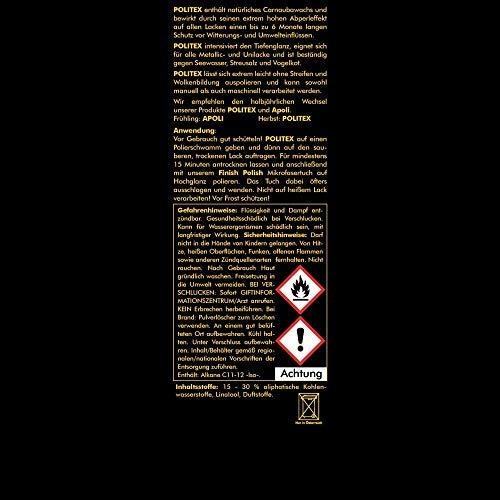 ABACUS AUTOPOLITUR Set (7357) - je 1x 500 ml APOLI Hochglanzpolitur POLITEX Lackversiegelung PRE-Poli Kratzerentferner & Lackreiniger PRE-Poli Power Schleifpaste