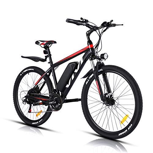 VIVI Bicicleta Eléctrica 26'' E-Bike, 350W Bicicleta Eléctrica de Montaña, Bici Electrica para Adulto, Bicicleta Eléctrica con 36V 10.4Ah Batería de Litio extraíble, Shimano 21vel