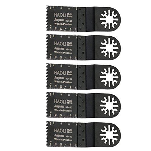 Amuzocity Accesorios de Raspador Multipropósito de Metal de Hoja de Sierra Oscilante Universal de 5 Piezas