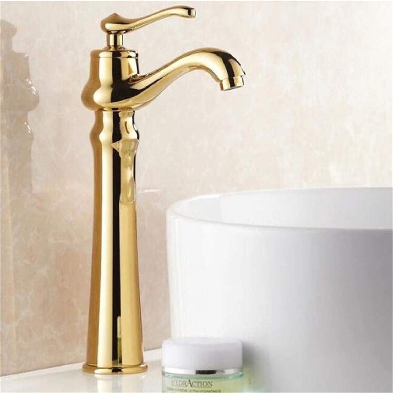 Faucets Basin Mixer Continental golden Faucet Hot and Cold Faucet Bathroom Single Handle Sink Taps Washbasin Basin Faucets Mixer