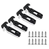 COOLOGIN Rubber Flexible T-Handle Hasp Draw Latch for Tool Box, Cooler, Golf Cart or Engineering Machine Hood (4 Pack)
