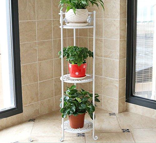 William 337 Stand de fleur en fer forgé fleur Stand Stand-debout Plant Stand Balcon Salon Simple pot de fleur Rack 3 étages (Couleur : B)