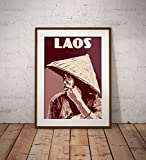 guyfam Vintage Poster Laos - Young Woman - Fine Art Print