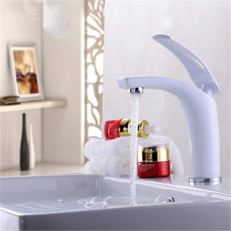 Willsego Wasserhahn Kreative Farbe Voll Kupfer Warm und Kaltwasserhahn Die Bühne Becken Badezimmer Waschbecken Wasserhahn D (Farbe   D, Gre   -)