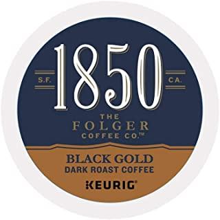 1850 Brand Coffee Black Gold Roast Single Serve Capsules For Keurig K-Cup Pod Brewers, 16 Count