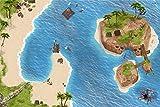Stikkipix Piraten Spielteppich | SM06 | Hochwertige Spiel-Matte für das Kinder-Zimmer | ideales Zubehör zu Spiel-Figuren von Schleich, Playmobil, Papo, Bullyland & Co | 150 x 100 cm