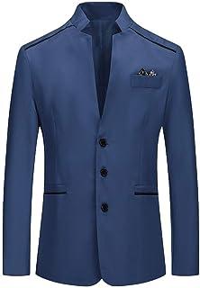 Blazer Uomo Slim Fit Giacca Blazer Casual Blazer Elegante Top da Abito da Sera alla Moda Casual Patchwork Business