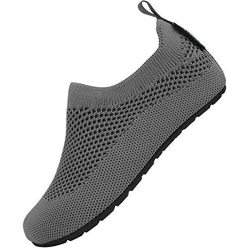 Niños Pantufla Unisex Suave Ultraligero Zapatillas de Casa para Niñas Antideslizantes Cómoda Calcetines Zapatos de Bebé Jardín de Infancia Parque, Pantuflas Gris 36/37