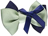 Double Bow Moss Green&Navy