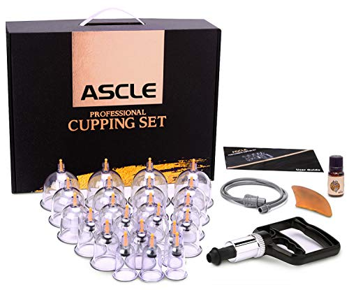 ASCLE Cupping Set w/Extra Thick Super Cup, 22-Cup