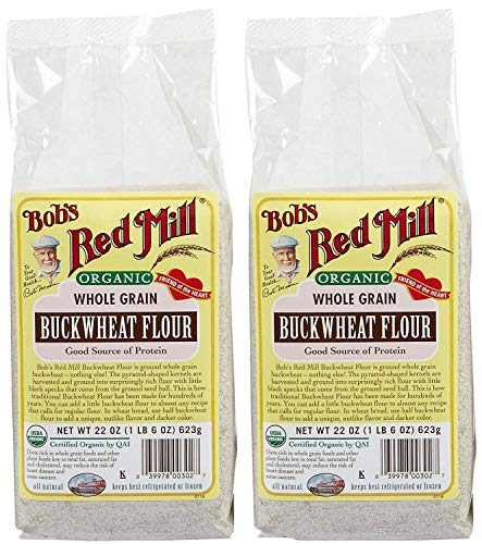 Bob's Red Mill Organic Buckwheat Flour, 22 Ounce, Pack of 2