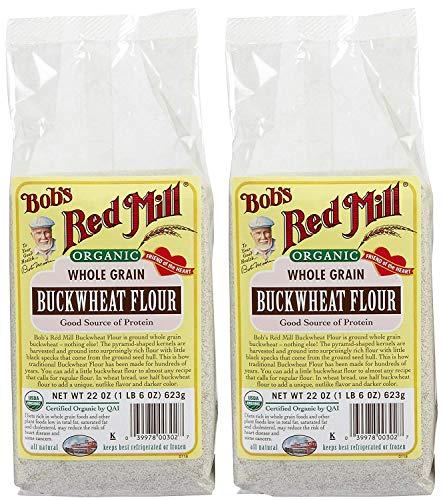 Bob's Red Mill Organic Buckwheat Flour, 22 Ounce, Pack of 2