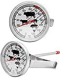 HomeTools.Eu® - Termometro analogico resistente al calore per cucinare, arrostire, grigli...